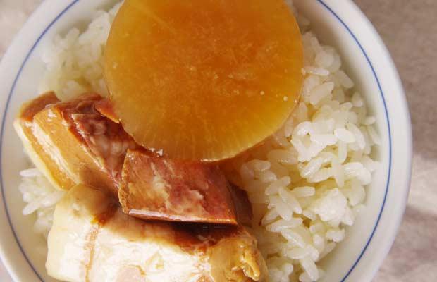 おいしい缶詰豚角煮大根-1