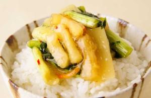 【野沢菜シリーズ、春の相棒は…】漬物専門店 丸越の「野沢菜たけのこ」
