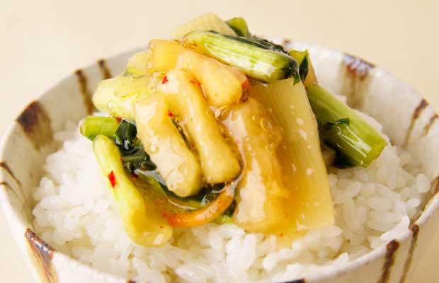 野沢菜たけのこ-1