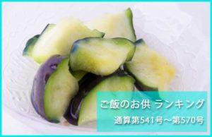 ご飯のお供 ランキング2016 ~通産第541号→第570号~