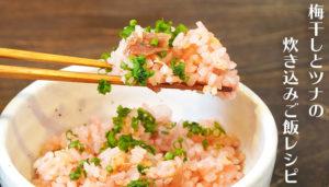 まだまだ厳しい残暑を乗り切るぞ飯|梅干しとツナの炊き込みご飯 レシピ